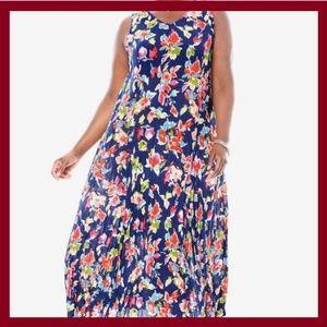 Dresses & Skirts - SLEEVELESS V-NECK CRINKLE DRESS(Petite)